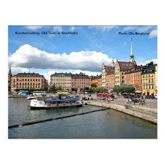Kornhamnstorg. Alte Stadt auf Lager… Postkarte