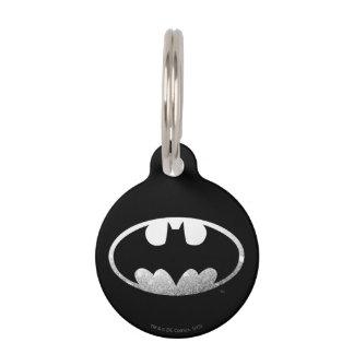Körniges Logo Batman-Symbol-| Hundemarke