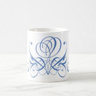 Kornische blaue Rose Kaffeetasse