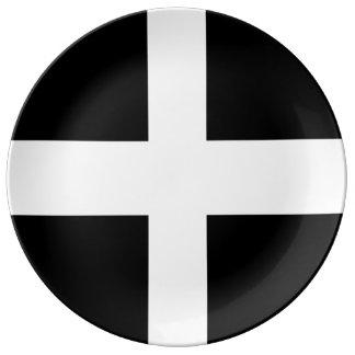 Kornische Flaggen-Porzellan-Party-Platte Porzellanteller