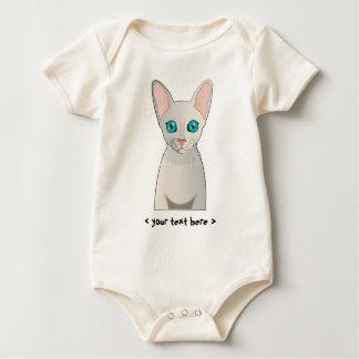 Kornische Rex Katze personalisiert Baby Strampler