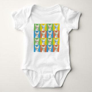 Kornische Rex Katzen-Pop-Art Baby Strampler