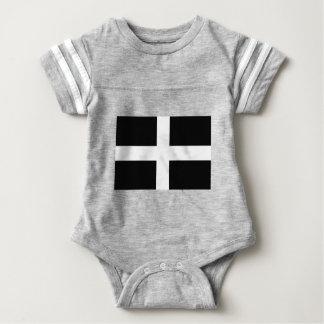 Kornischen Heiliges Pirans Cornwall-Flagge - Baner Baby Strampler
