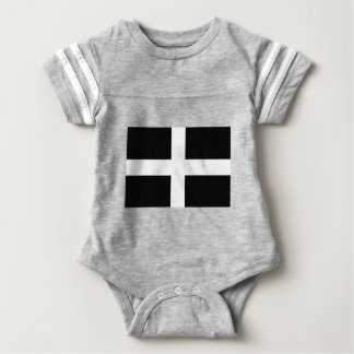 Kornischen Heiliges Pirans Flagge - Flagge von Baby Strampler