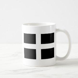 Kornischen Heiliges Pirans Flagge - Flagge von Kaffeetasse