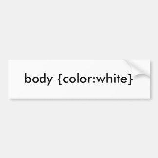 Körper {Farbe: Weiß} Autoaufkleber