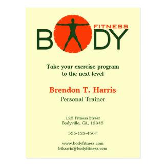 Körper-Verrücktheits-Turnhallen-persönliche Postkarte
