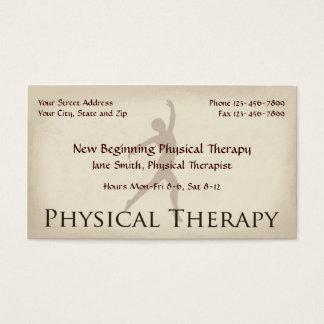 Körperlicher Therapeut-Therapie-Visitenkarten Visitenkarte
