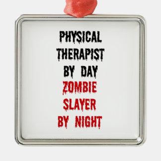 Körperlicher Therapeut-ZombieSlayer Silbernes Ornament