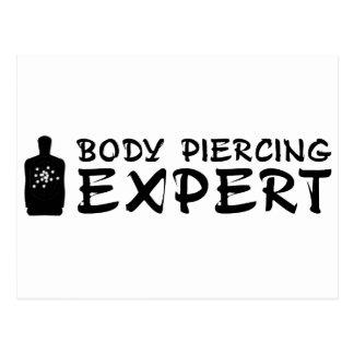 Körperpiercing-Experte Postkarte