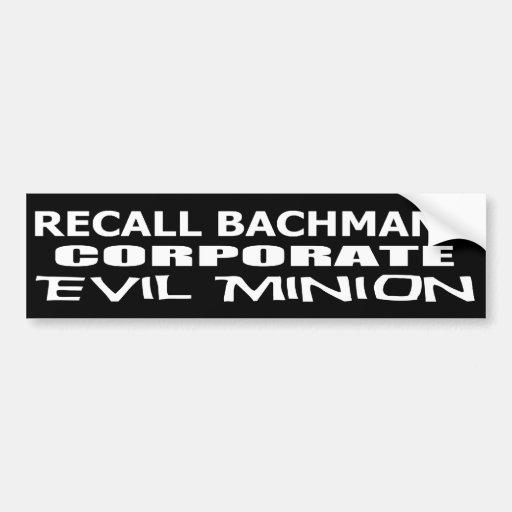 Korporativer schlechter Günstling Rückruf-Michele  Autoaufkleber