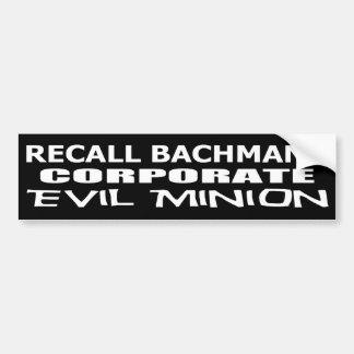 Korporativer schlechter Günstling Rückruf-Michele  Autosticker