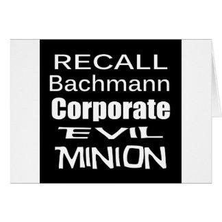 Korporativer schlechter Günstling Rückruf-Michele Karte