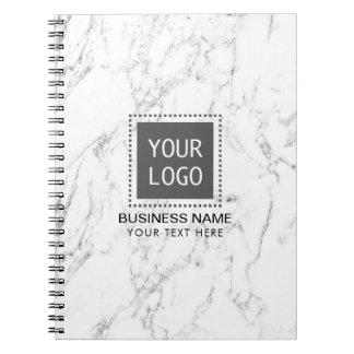 Korporatives kundenspezifisches Logo-eleganter Spiral Notizblock