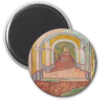 Korridor in St- Paulkrankenhaus Vincent van Gogh Runder Magnet 5,1 Cm