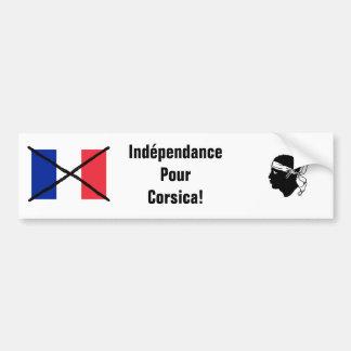 Korsika-Unabhängigkeits-Autoaufkleber Autoaufkleber