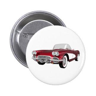 Korvette 1961 C1: Süßigkeit Apple beenden: Runder Button 5,7 Cm