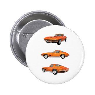 Korvette 1967 C2: Runder Button 5,7 Cm