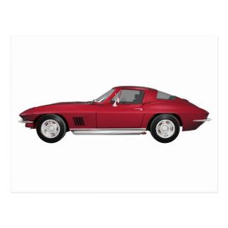 Korvette 1967: Sport-Auto: Süßigkeit Apple Postkarte