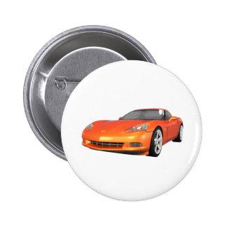 Korvette 2008: Sport-Auto: Orange Ende: Runder Button 5,1 Cm