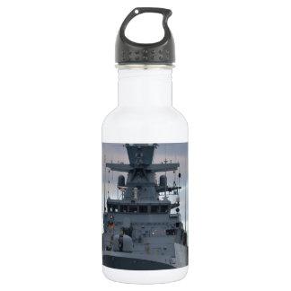 Korvette Braunschweig verankert in Plymouth Trinkflasche