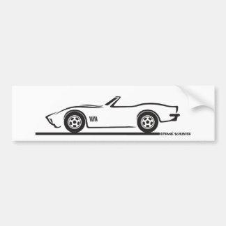 Korvette-Kabriolett 1970-72 Autoaufkleber