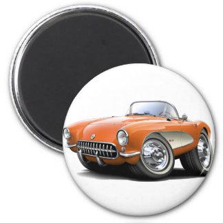 Korvette-Orangen-Auto 1956-57 Runder Magnet 5,1 Cm