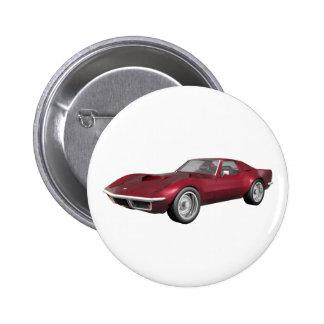Korvette-Sport-Auto 1970: Süßigkeit Apple beenden: Anstecknadel
