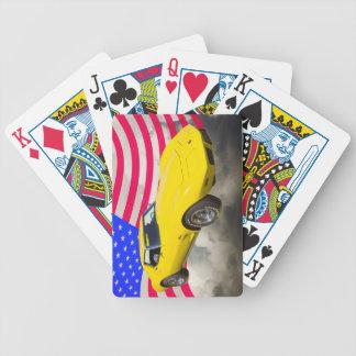 KorvetteStingray 1975 mit amerikanischer Flagge Bicycle Spielkarten