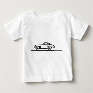 Korvettestingray-aufgeteiltes Schwarzes 1965 Baby T-shirt