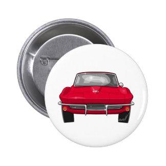 Korvettestingray-Front 1964 Runder Button 5,7 Cm