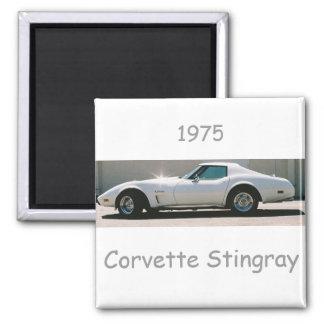 Korvettestingray-Magnet 1975 Quadratischer Magnet