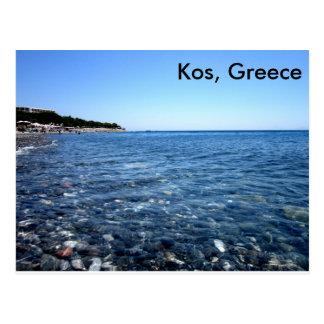 Kos, Griechenland-Strand-Szenen-Postkarte Postkarte