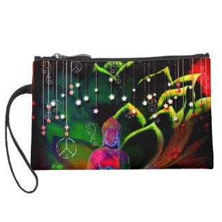 Kosmetische Taschen-Lotos-Liebe Buddha Mini Velour Clutch