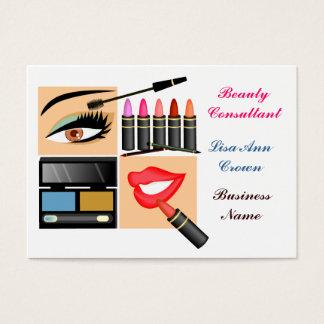 Kosmetische Verkaufs-Person Visitenkarte