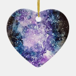 Kosmische Galaxie Keramik Ornament