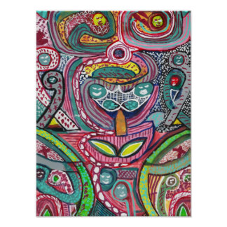 KOSMISCHE Geist-Verbindung der Energie-N Poster