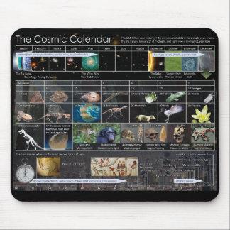 Kosmische Kalender-Mausunterlage Mousepads