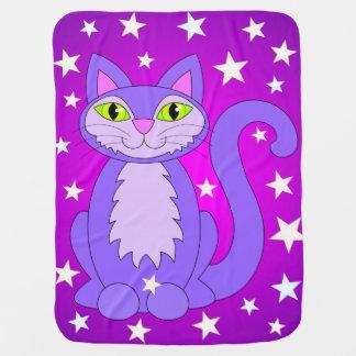 Kosmische Katzen-niedlicher lächelnder Puckdecke