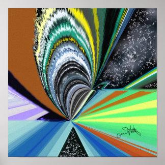Kosmische Lichter Poster