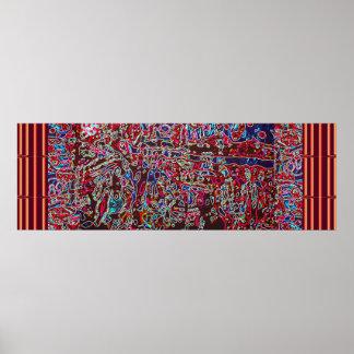 KOSMISCHE Topographie - abstrakte wilde Fantasie Poster