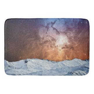 Kosmische Winter-Landschaft Badematte