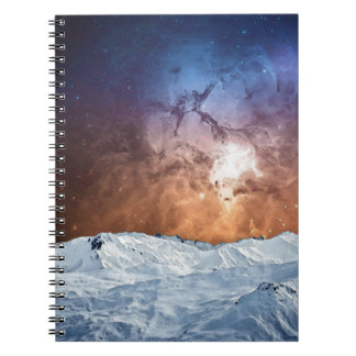 Kosmische Winter-Landschaft Notizblock