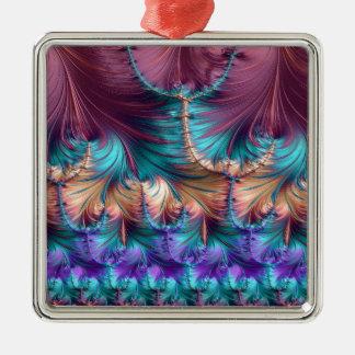 Kosmischer Brunnen des Kindheits-Fraktals abstrakt Silbernes Ornament