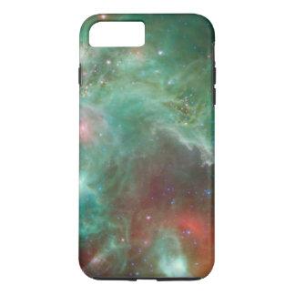 Kosmischer grüner Raum-Affe-Kopf-Nebelfleck iPhone 8 Plus/7 Plus Hülle