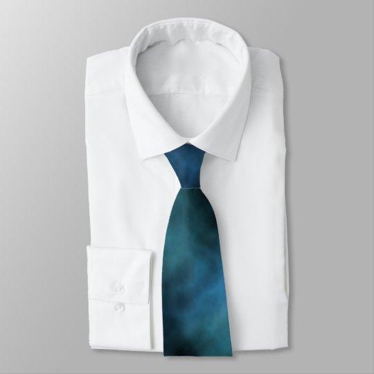 Kosmischer Imitat-Blau-Marmor Individuelle Krawatte