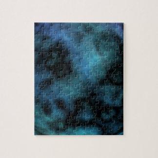 Kosmischer Imitat-Blau-Marmor Puzzle
