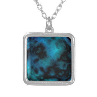 Kosmischer Imitat-Blau-Marmor Versilberte Kette