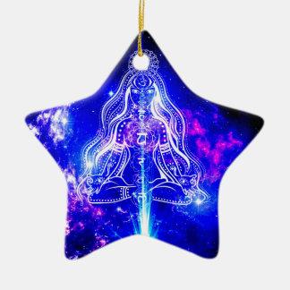 Kosmischer Iridescence Keramik Ornament