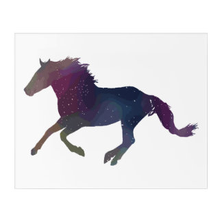 Kosmischer Mustang Acryl Wandkunst